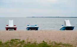 Três catamarãs Imagens de Stock