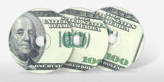 Três cem Cd do dólar Imagem de Stock Royalty Free