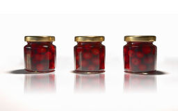 Três cerejas Fotos de Stock
