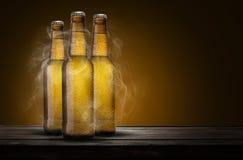 Três cervejas fotos de stock