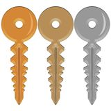 Três chaves Fotografia de Stock Royalty Free