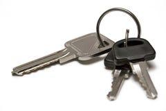 Três chaves com anel Foto de Stock