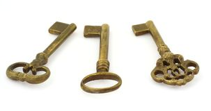 Três chaves velhas #2 imagem de stock