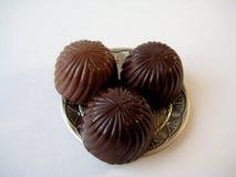 Três chocolates Imagem de Stock
