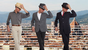Três clone ou objetivas triplas em Florença, Itália Imagem de Stock Royalty Free