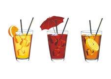 Três cocktail ilustração stock