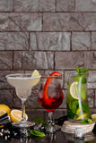 Três cocktail alcoólicos diferentes Fotografia de Stock