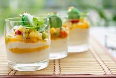 Três cocktail de fruta Imagem de Stock Royalty Free