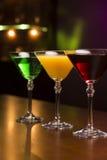Três cocktail exóticos foto de stock