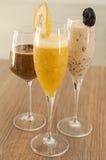 Três cocktail não alcoólicos Imagens de Stock Royalty Free