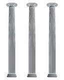 Três colunas iónicas Foto de Stock