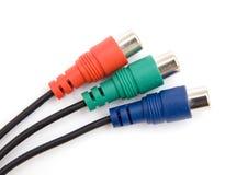 Três conectores da cor Imagem de Stock Royalty Free