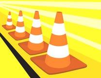 três cones do divisor da haste Foto de Stock Royalty Free