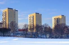 Três construções altas da elevação Fotos de Stock