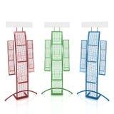 Três contadores coloridos para materiais relativos à promoção Imagem de Stock Royalty Free
