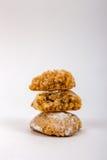 Três cookies de amêndoa italianas no açúcar pulverizado Imagens de Stock Royalty Free