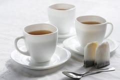 Três copos brancos. Imagens de Stock Royalty Free