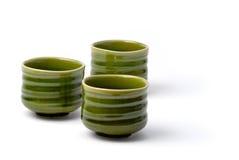 Três copos de chá chineses 3 Fotografia de Stock