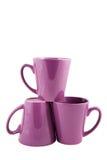 Três copos roxos Fotografia de Stock