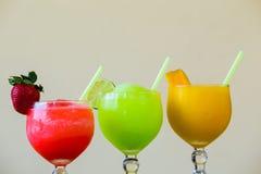 Três cor Margarita Drink Specials Imagem de Stock