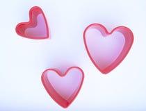 Três corações Fotos de Stock Royalty Free