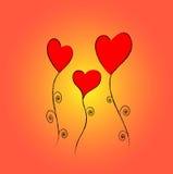 Três corações Foto de Stock