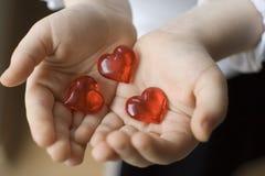 Três corações Fotos de Stock