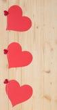 Três corações Foto de Stock Royalty Free