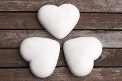 Três corações do pão-de-espécie Imagem de Stock