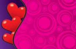 Três corações escondendo tímidos Ilustração Royalty Free