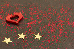 Três corações vermelhos Foto de Stock Royalty Free