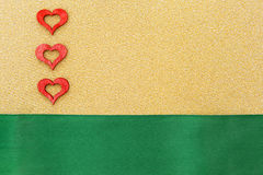 Três corações vermelhos Imagem de Stock Royalty Free
