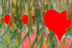 Três corações vermelhos Imagens de Stock