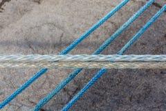 Três cordas e brancos dois azuis Imagens de Stock