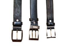 Três correias com curvaturas do metal Fotografia de Stock