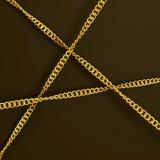 Três correntes douradas Imagem de Stock Royalty Free