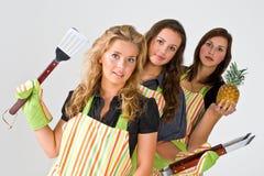 Três cozinheiros fotos de stock