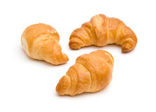 Três croissants Fotografia de Stock Royalty Free