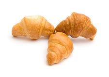 Três croissants Foto de Stock
