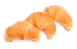 Três croissants Fotografia de Stock