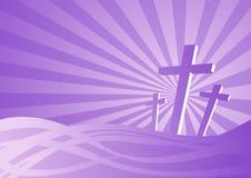 Três cruzes ilustração do vetor