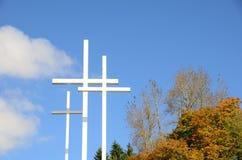 Três cruzes horizontais Fotografia de Stock