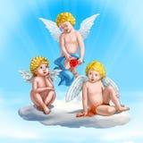 Três cupids Fotografia de Stock Royalty Free