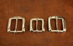 Três curvaturas no couro imagens de stock