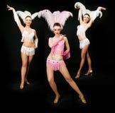 Três dançarinos fotografia de stock