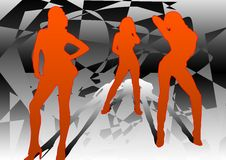 Três dançarinos 3 Foto de Stock Royalty Free