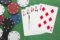 Três de um tipo Conceitos do casino Fotografia de Stock
