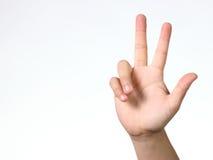 Três dedos foto de stock