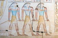 Três deuses de Horus imagem de stock royalty free