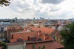 Três dias em Zagreb, Croácia imagens de stock